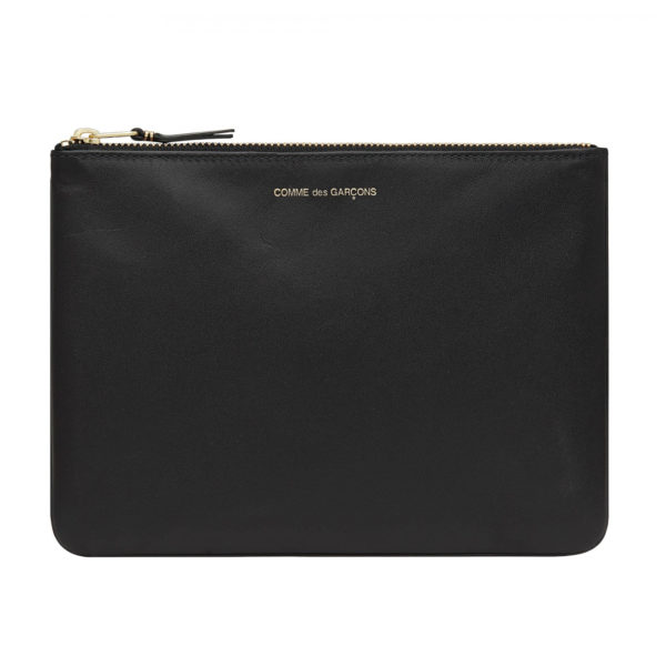 comme des garcons wallet classic leather black sa5100