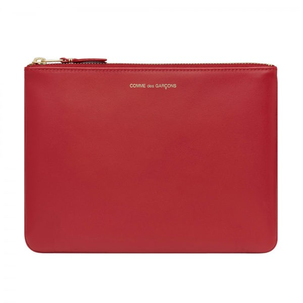 comme des garcons wallet classic leather red sa5100c