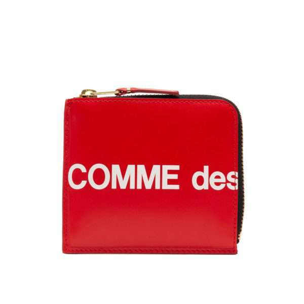 comme des garcons wallet huge logo red sa3100hl