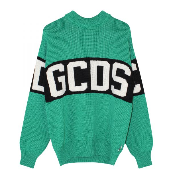gcds-logo-sweater-green-cc94w020050