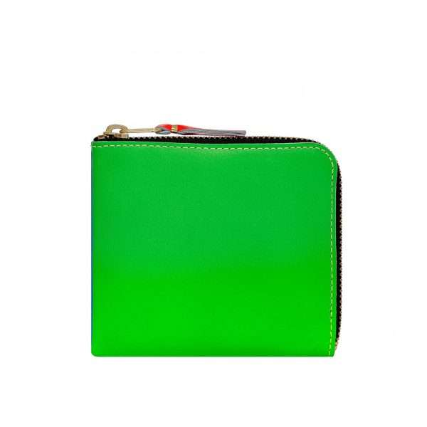comme-des-garcons-wallet-super-fluo-green-orange-sa3100sf